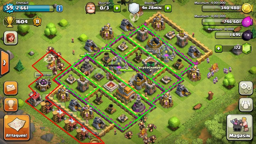le meilleur village clash of clans